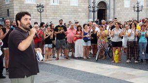 Els concentrats han llegit un manifest contra la reforma constitucional. (Foto: ACN)