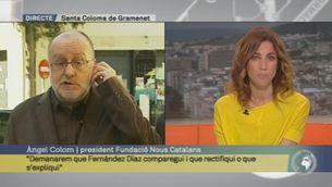 """Àngel Colom: """"Jorge Fernández Díaz fa declaracions incendiàries i fa més de piròman que de bomber"""""""
