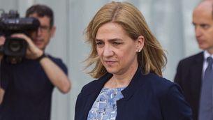 La infanta Cristina, dimarts, després de sentir les conclusions de les defenses del cas Nóos (EFE)