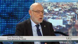 El fiscal general de l'Estat amenaça amb penes de presó Puigdemont, Junqueras i Forcadell