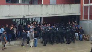Una càrrega de la Guàrdia Civil a Dosrius acaba amb 9 ferits a l'hospital