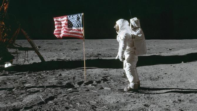 Imatge icònica de l'arribada de l'home a la Lluna (Foto: NASA)