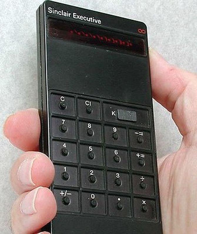 La calculadora Sinclair Executive