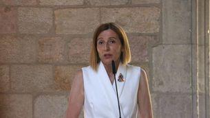 Carme Forcadell en un acte el mes de juny (ACN/Pau Cortina)
