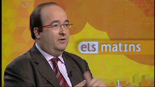 """Miquel Iceta en un moment de l'entrevista a """"Els matins"""""""