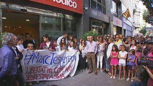 Concentració pel segrest de Marc Marginedes