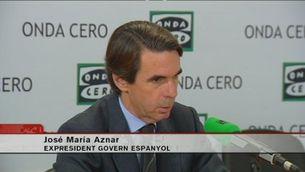 Aznar proposa castigar amb presó la convocatòria d'una consulta il·legal