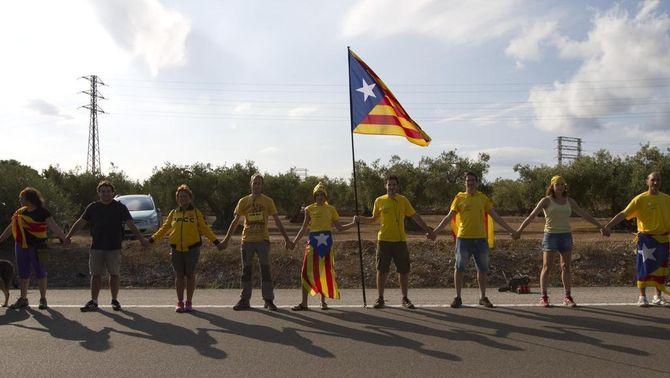 Imatge de la gigafoto corresponent al tram 73 de la Via Catalana, a l'Ampolla. (Foto: ANC)