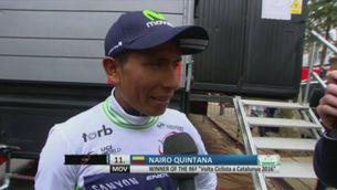 """Nairo Quintana: """"És una de les victòries més sofertes de la meva carrera"""""""