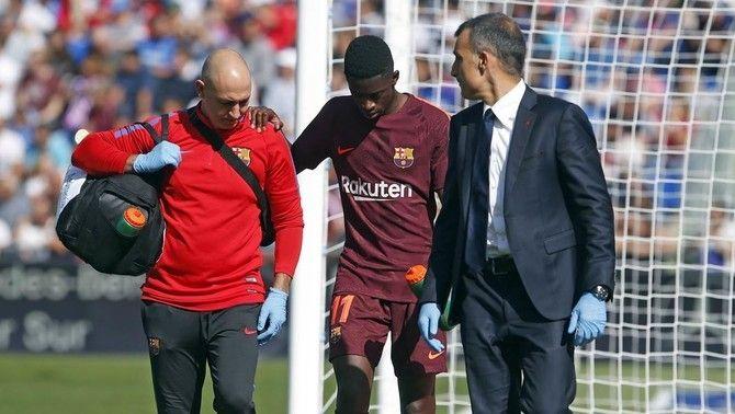 El jugador del Barça Ousmane Dembélé haurà de passar pel quiròfan i estarà entre 3 i 4 mesos de baixa