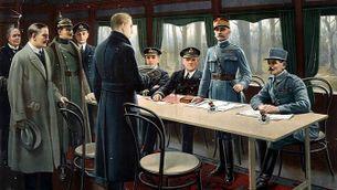 La firma de l'armistici en un vagó de tren a Compiègne