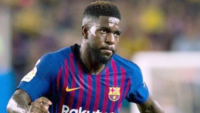 Samuel Umtiti no vol marxar del Barça