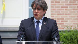 Carles Puigdemont a la Casa de la República a Waterloo