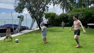 El rondo de Messi amb els seus fills