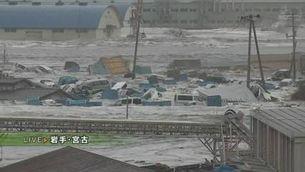 Un gran tsunami colpeja el Japó