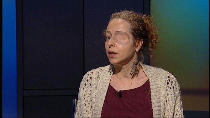 """Esther Quintana, durant una entrevista a """"Àgora"""", a TV3"""