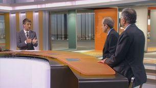 Entrevista amb Carles Boix i Miquel Puig pels informes sobre la Transició Nacional