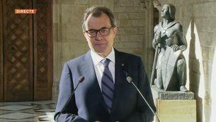 Missatge en anglès d'Artur Mas als governs del món