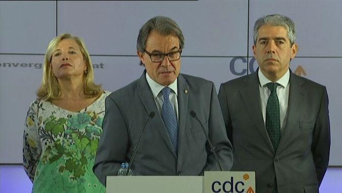 """Artur Mas: """"Tenim un estat de matriu franquista que persegueix idees polítiques"""""""