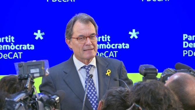 Artur Mas deixa la presidència del PDeCAT dos anys després del pas al costat