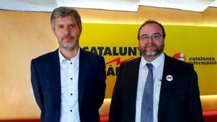 Els advocats Andreu Van den Eynde i Àlex Solà