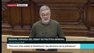 Carles Riera exigeix la dimissió del conseller Buch