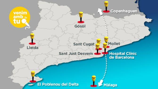 El mapa de Catalunya Ràdio en el Dia Mundial de la Ràdio (actualitzat v2)
