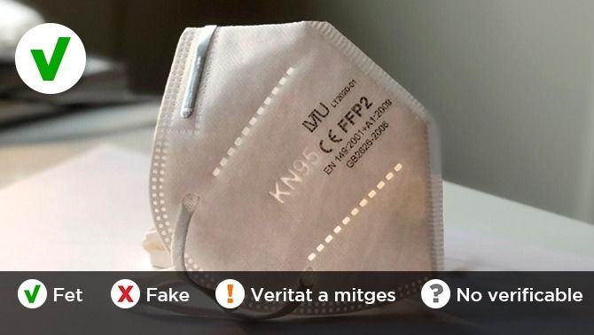 Les mascaretes FFP2 i KN95 són el mateix? Un vídeo que corre per xarxes socials i WhatsApp denuncia que la cadena de supermercats Alcampo intenta &q…