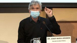 El secretari de Salut Pública en la roda de premsa de Salut per informar de la vacunació