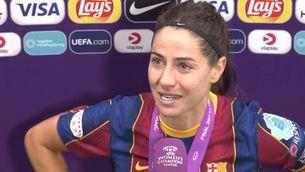 Vicky Losada, la capitana del Barça, emocionada