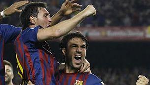 Messi i Cesc celebren el gol. (Foto: Reuters)