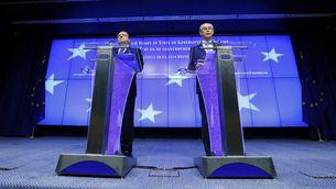 José Manuel Barroso i Herman van Rompuy, després de la cimera. (Foto: Reuters)