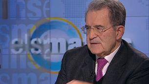 """Romado Prodi, al plató d'""""Els matins"""""""