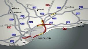 Diverses incidències compliquen la circulació a les rondes de Barcelona