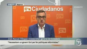 """Villegas: """"L'única solució és que PP, PSOE i Ciutadans ens posem d'acord"""""""