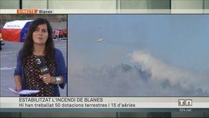 L'incendi forestal de Blanes, estabilitzat
