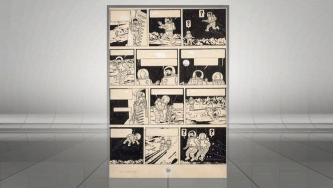 Una planxa original de Tintín se subhasta per 1,55 milionsd'euros