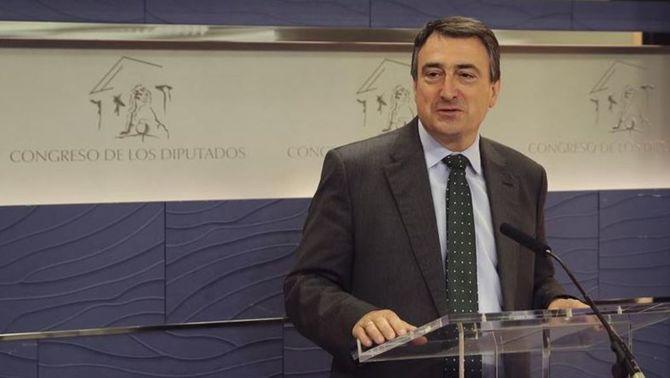Aitor Esteban, portaveu del PNB al Congrés, satisfet amb l'acord amb el PP (EFE)