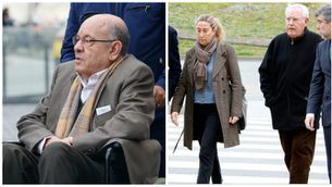 Fèlix Millet, Gemma i Jordi Montull en la seva compareixença a la Ciutat de la Justícia