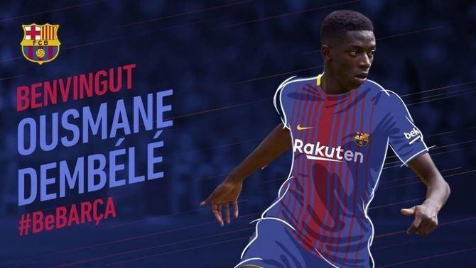 El FC Barcelona oficialitza el fitxatge d'Ousmane Dembélé, per cinc temporades i 105 milions d'euros més variables