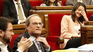 Esbroncada entre Torra i Arrimadas a la sessió de control del Parlament (Font: ACN)