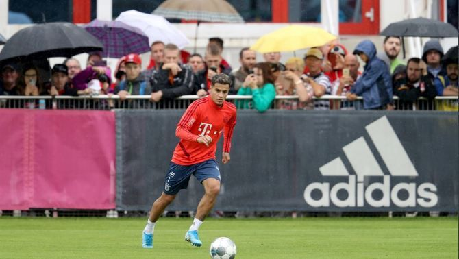 Philippe Coutinho ja s'entrena amb el Bayern de Munic