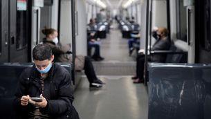 mascaretes, metro, transport, confinament