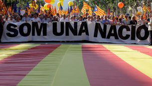 La manifestació del 2010 en protesta per la sentència del TC sobre l'Estatut