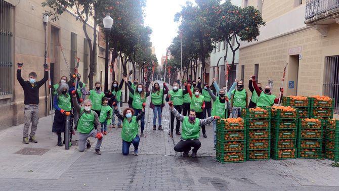 3.000 pots de melmelada fets amb 800 kg de taronges collits als carrers de Sant Andreu