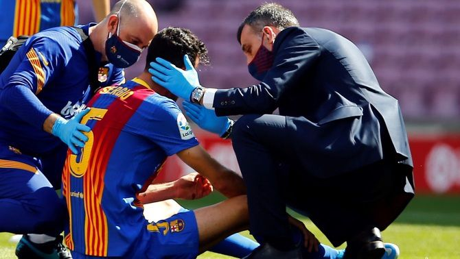 Sergio Busquets té una fissura òssia