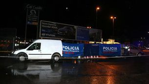 L'àrea de servei de l'Ll-11, a Lleida, on ha aparegut un cadàver al maleter d'un vehicle (ACN / Salvador Miret)