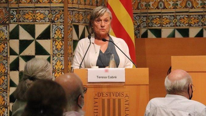 Intervenció de Cabré en el ple extraordinari a l'Institut d'Estudis Catalans