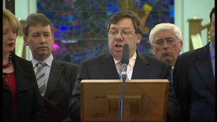 El primer ministre irlandès, Brian Cowen, en una compareixença recent.