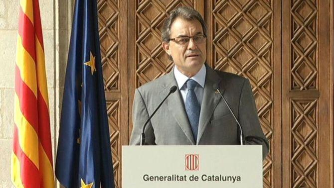 """Mas: """"L'objectiu és dotar Catalunya d'estructures d'Estat"""""""